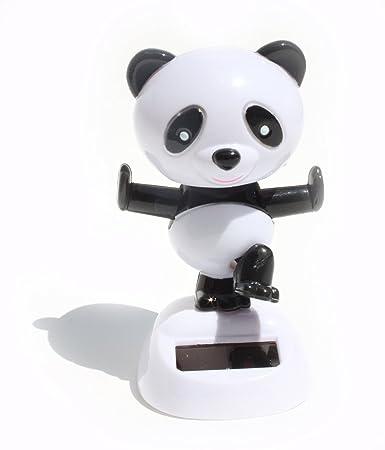 BLACK /& WHITE PANDA BEAR SOLAR DANCER