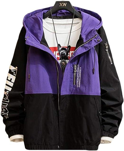 Gergeousジャケット メンズ 切り替え アウター フード付き ゆる ジャンパー春服 ウィンドブレーカー