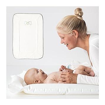 Amazon.com: IKEA SKOTSAM cambiador hinchable y funda blanda ...