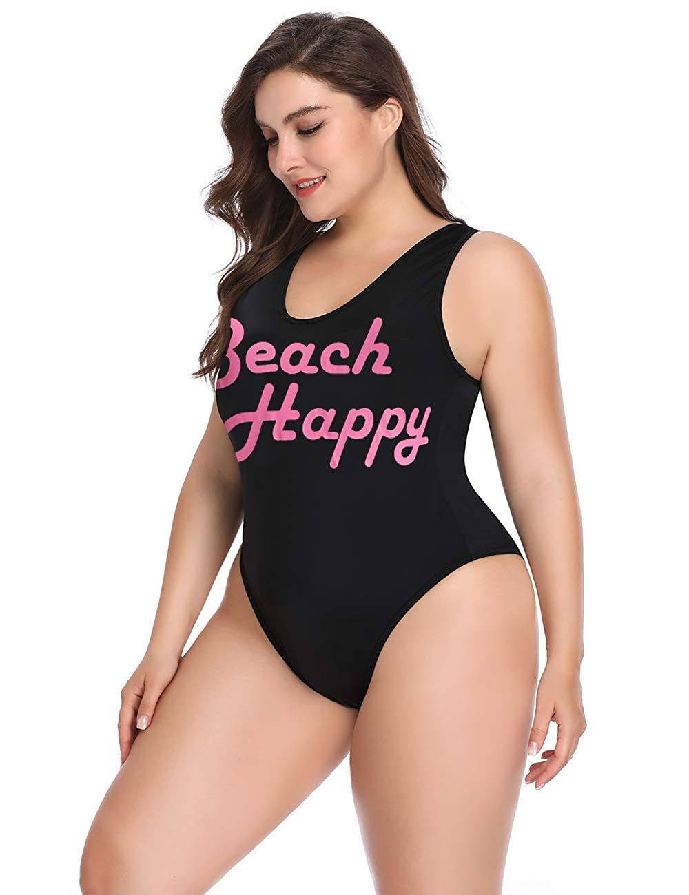 4d455477b9d ALONG FIT Women's Plus Size Swimwear with High Cut and Low Back One Piece  Swimsuits Bathing Suit for Women