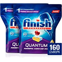Finish Powerball Quantum Dishwasher Tablets, Lemon Sparkle, 160 Pack (2x80)