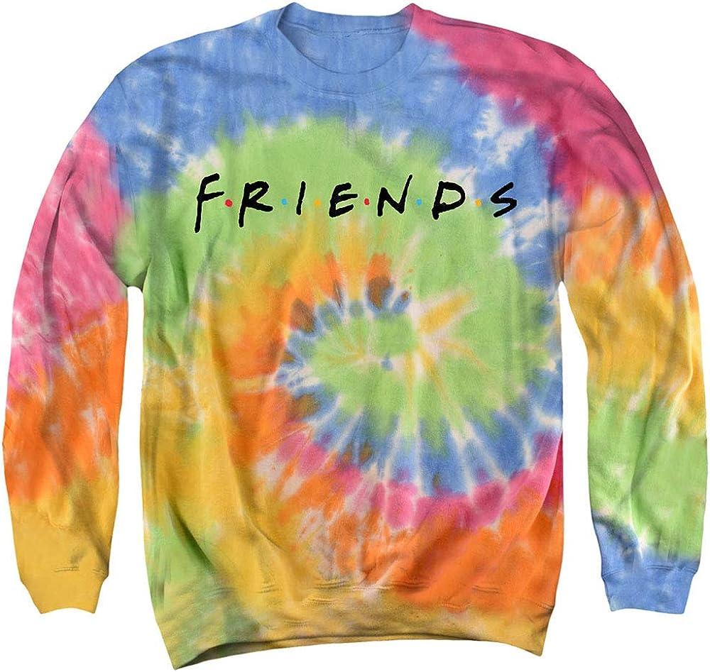 Popfunk Friends Logo Tie Dye Adult Sweatshirt: Clothing