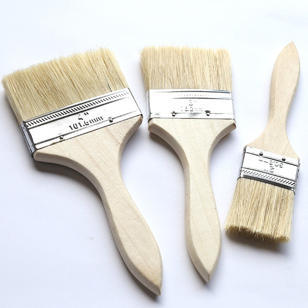 TrifyCore Cepillo de Pintura de Madera Profesional para Paredes (1.5 Pulgadas + 2.5 Pulgadas + 4 Pulgadas 3 Paquetes)