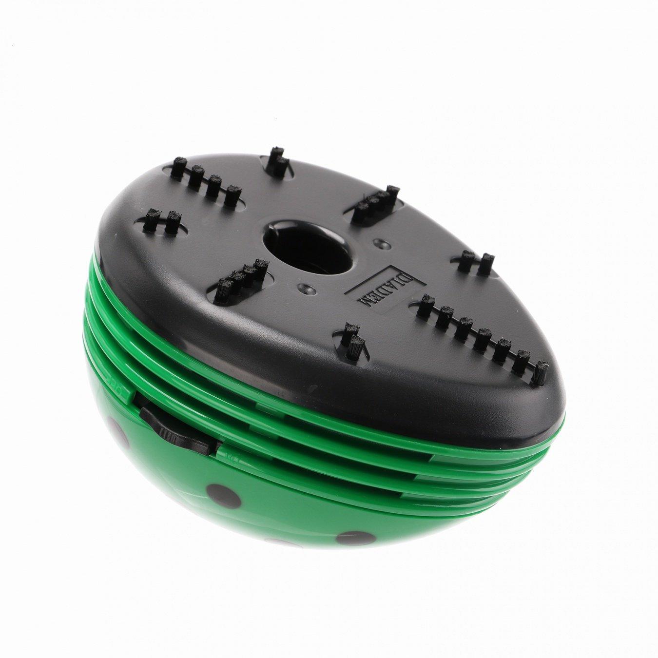 VOYEE Cute Portable Beetle Ladybug Cartoon Mini Desktop Vacuum Desk Dust Cleaner Green by VOYEE (Image #3)