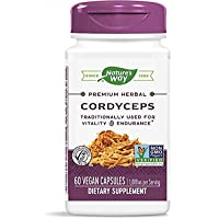 Nature's Way Premium Herbal Cordyceps Vitality & Endurance, 500 mg per capsule, 60 Count