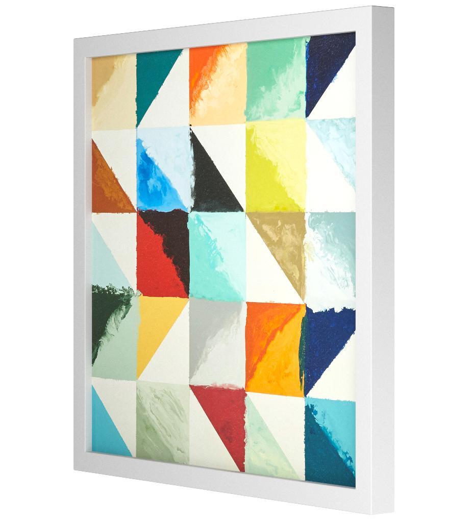 Abstract Art Geometric designs Paint Canvas Poster Modern Decor No Frame A576