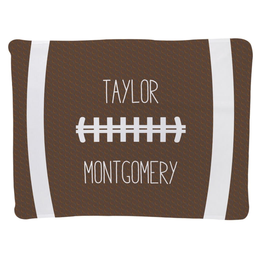 Football Baby & Infant Blanket | Football Stitches