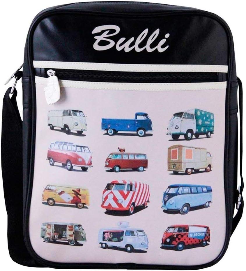 Preis am Stiel Bulli Schultertasche Bulliparade T1 Look Tasche Bulli Bus Motiv Umh/ängetasche Retro Tasche
