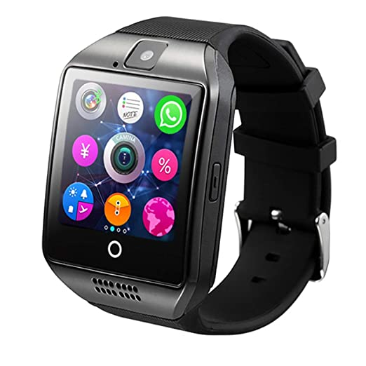 Tree-on-Life Bluetooth Smart Watch Men Q18 con Pantalla táctil y ...
