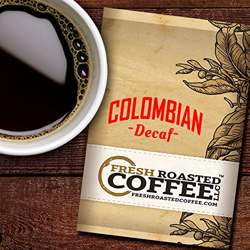 Decaf Colombian Coffee, 1.75 oz. Fractional Packages, Ground, Fresh Roasted Coffee LLC. (42 Portion Packs)