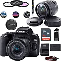 Canon EOS 250D (Rebel SL3) DSLR Camera with EF-S 18-55mm f/4-5.6 is STM Lens - Basic Accessories Bundle