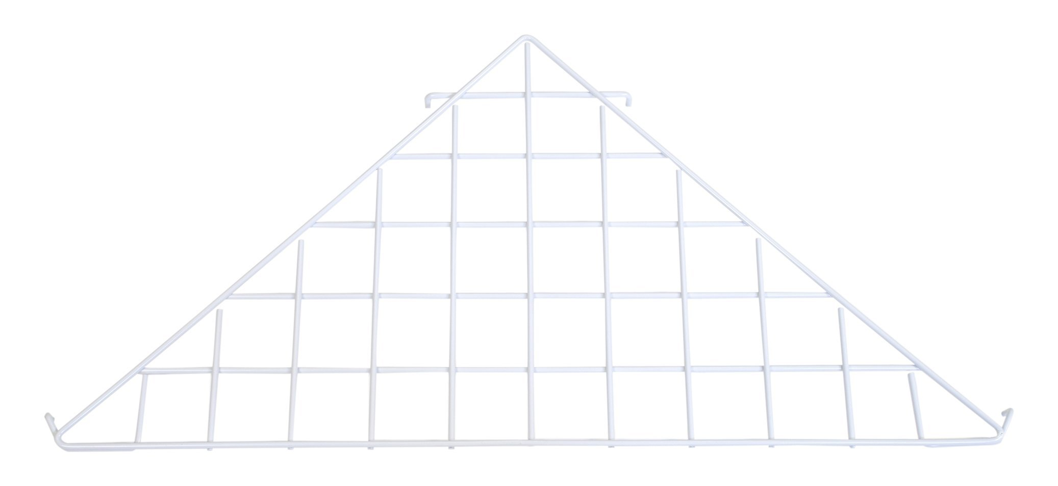 KC Store Fixtures A04928 Grid Triangle Shelf, White (Pack of 10)