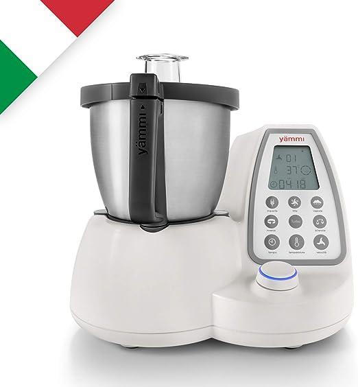 Yämmi Robot de Cocina Multifunción en Italiano, Capacidad Bruta de 3.3L, 11 Funciones, Incluye 9 Accesorios, Potencia 1500 W, Motor 500 W, Libro de Recetas en Italiano: Amazon.es: Hogar
