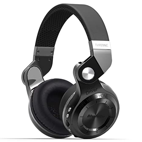 1fd8bebfdd2 Amazon.com: Bluedio T2 Plus Turbine Wireless Bluetooth Headphones with Mic/Micro  SD Card Slot/FM Radio (Black): Home Audio & Theater