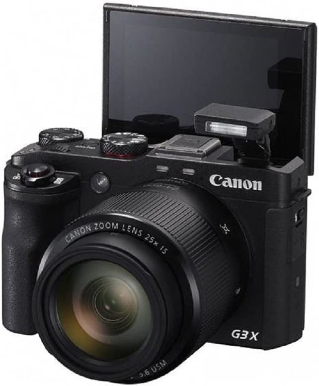 B0722QWW5V Canon PowerShot G3 X Digital Camera (Black) + 2 Tripods + 32GB microSD Card + Card Reader + 6PC Cleaning Kit + 2-in-1 Lens Cleaning Pen 61LhKDtkstL.SL1333_