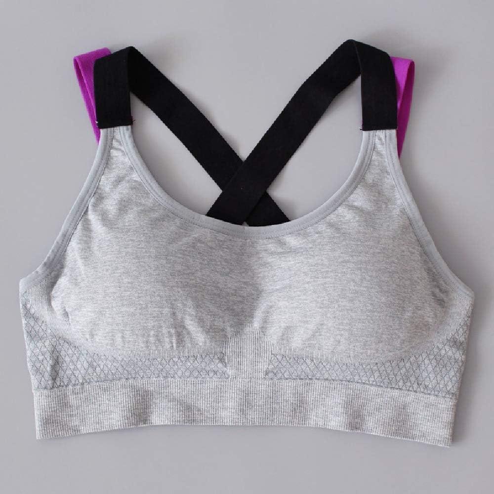 PQKDV Camisa Deportiva Mujer Running Camiseta Deportiva Camisa de Gimnasia Mujer Costura Color Yoga Top Sujetador Deportivo Top Fitness Sujetador Deportivo para Mujer: Amazon.es: Deportes y aire libre
