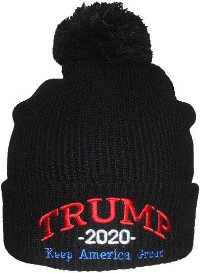 2020 Donald Trump Beanies Cap Keep America Great USA Flag New Hat Cotton Winter//