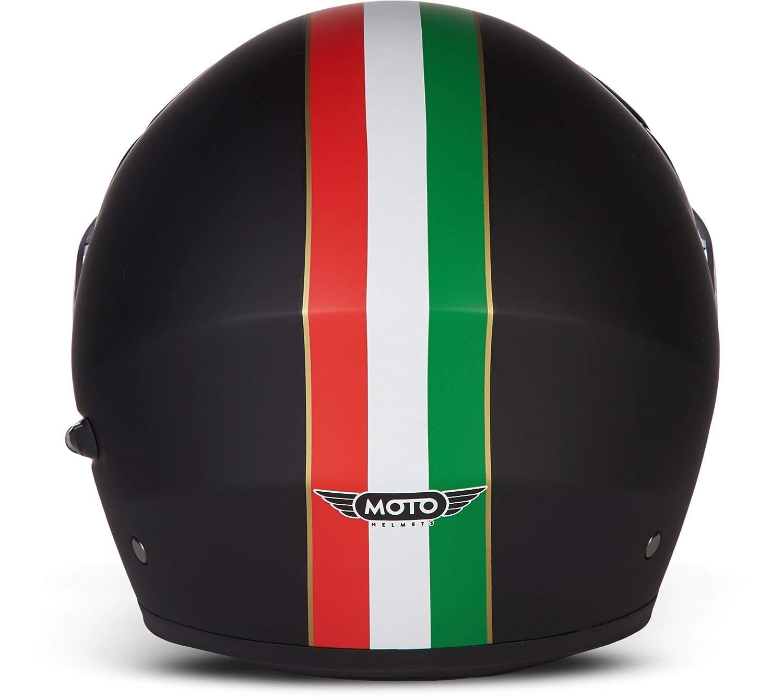 full face cruiser 53-62 cm Casco da moto XL Moto Helmets/® F19 Gloss Black certificazione ECE casco pieghevole modulare flip-up integrale visiera a sgancio rapido XS