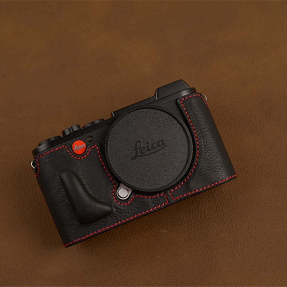 Cuero Real Hecho a Mano Leica Leica cl Cuero cámara Medio Juego de la Cubierta Protectora cámara Bolsa Medio Set Mango Base,Multicolored