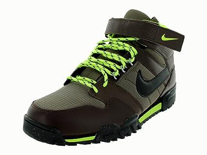 quality design 48ef1 4db2f Amazon.com  Nike Mogan Mid 2 OMS Boots - Men s Baroque Brown Volt Black,  8.5  Everything Else