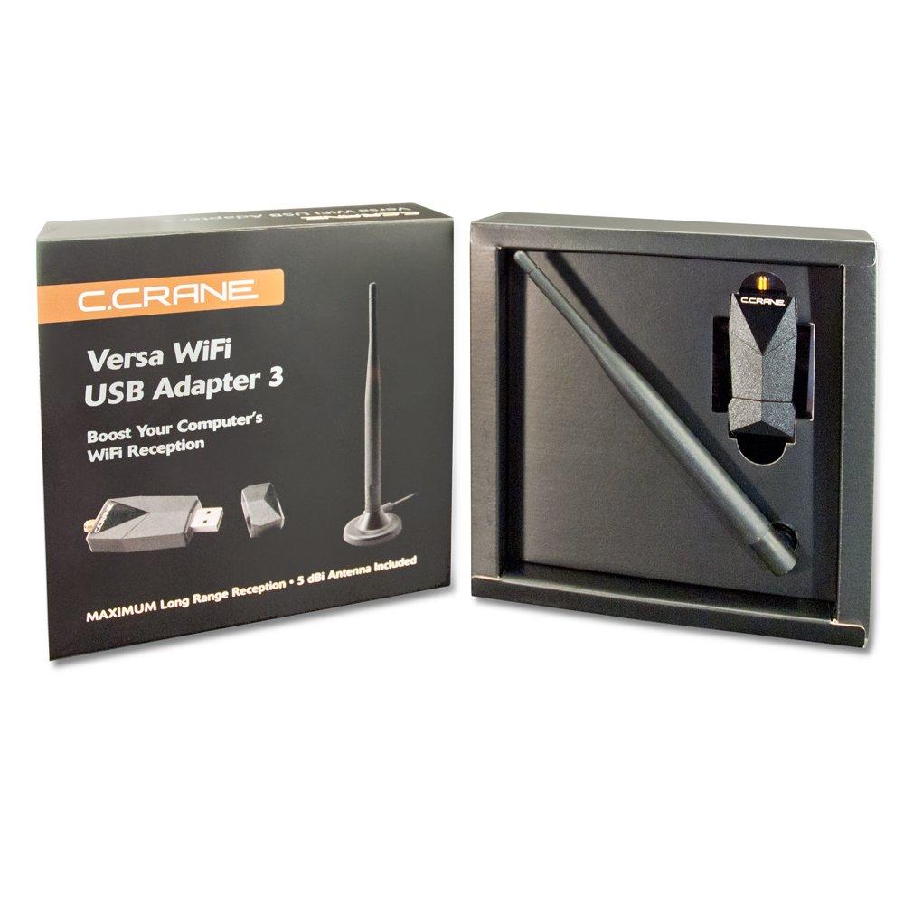 C. Crane Versa USB WiFi Adapter 3 – High Power Long Range 802.11 B G N Wireless Network Adapter by C.Crane (Image #5)