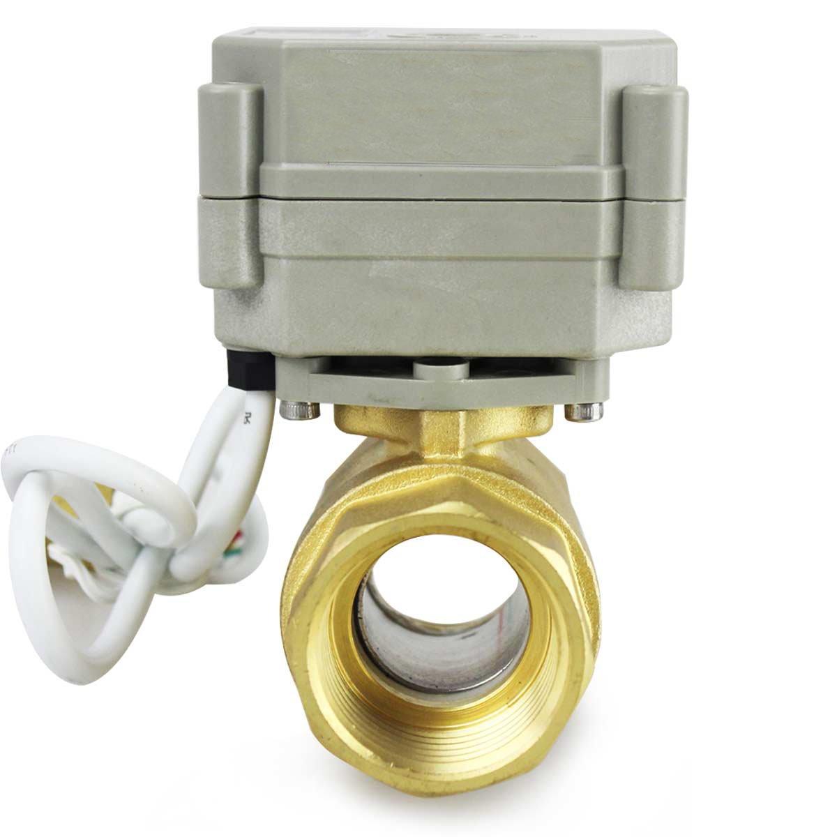 HSH-Flo 1//2 3//4 1 24VAC//DC 110VAC//220VAC 4-20ma 2 Way CF8 NPT Proportional Integral Control Motorized Ball Valve 1//2 110-240VAC