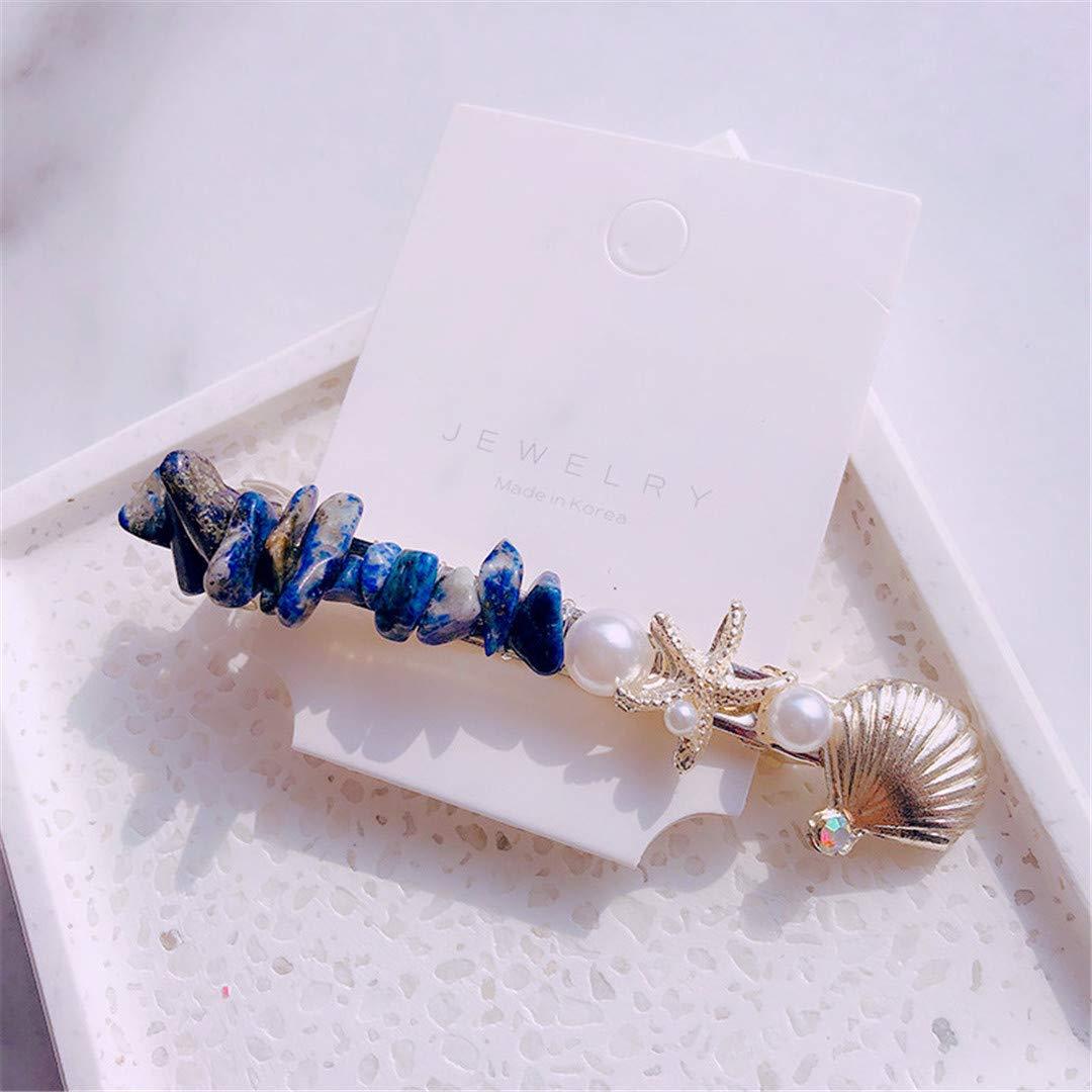 Pin Metal Girl Hairgrip Shell Barrettes Pearl Hairpins Starfish Hair Clips