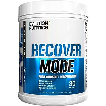 Evlution Nutrition Recover Mode Para el Post-Entrenamiento con BCAA, Creatina, Glutamina,