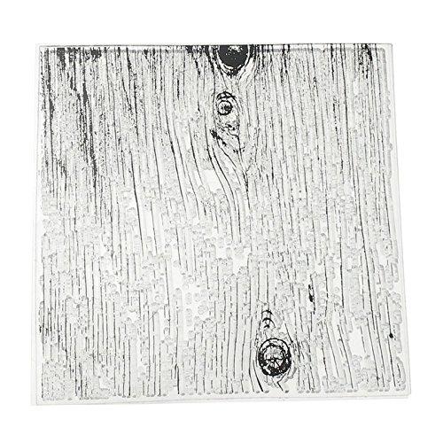 Antique Transparent (1Pcs Wood Vintage Background Antique Transparent Clear Silicone Stamp Seal for DIY Handmade Scrapbooking Photo Album Decor)