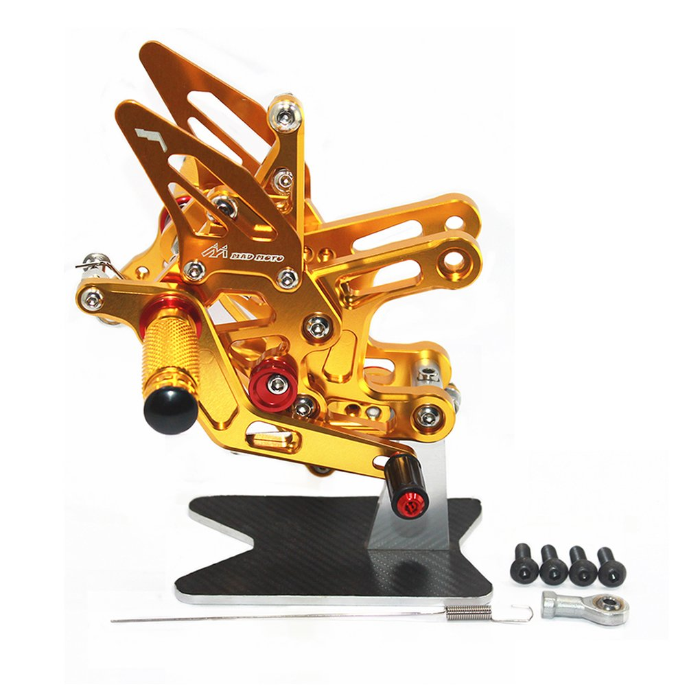 ZX10R 2016+バックステップ 調整式 CNCリアセット 適合車種 ZX10R 2016 (ゴールド)  ゴールド B07Q6RNF5F