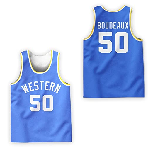 Shaq Neon Boudeaux Western U Chips Colors Basketball Stitch Jersey Stitch  XS-2XL Shirt ( f9326ad62