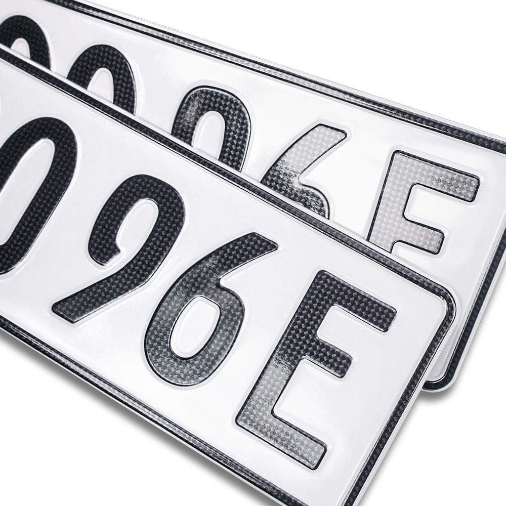 Schildevo 2 Carbon Kfz E Kennzeichen Offiziell Amtliche Nummernschilder Elektroauto Hybrid Auto Autokennzeichen Elektro Auto