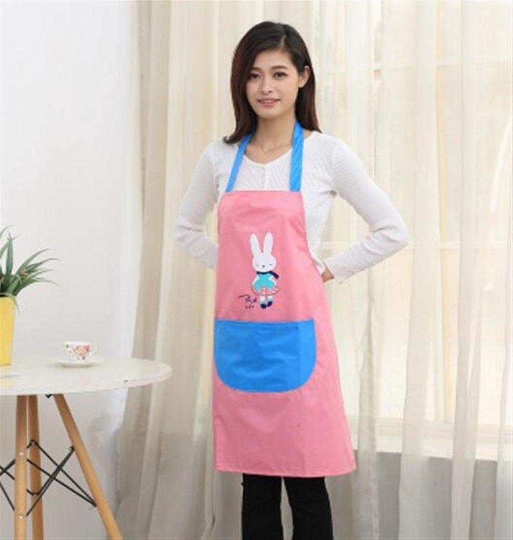 MwaaZ Süß und bequem Niedliche Kochschürze Cartoon-Kaninchen-Muster Schürze (Pink)