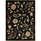 Safavieh Lyndhurst Collection LNH552-9091 Traditional Floral Black and Multi Area Rug (8'9″ x 12′)
