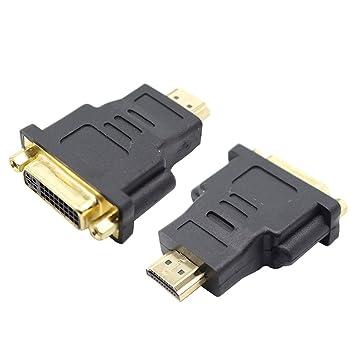 SNANSHI HDMI a DVI, HDTV HDMI Macho a DVI (24+5) Adaptador Hembra ...