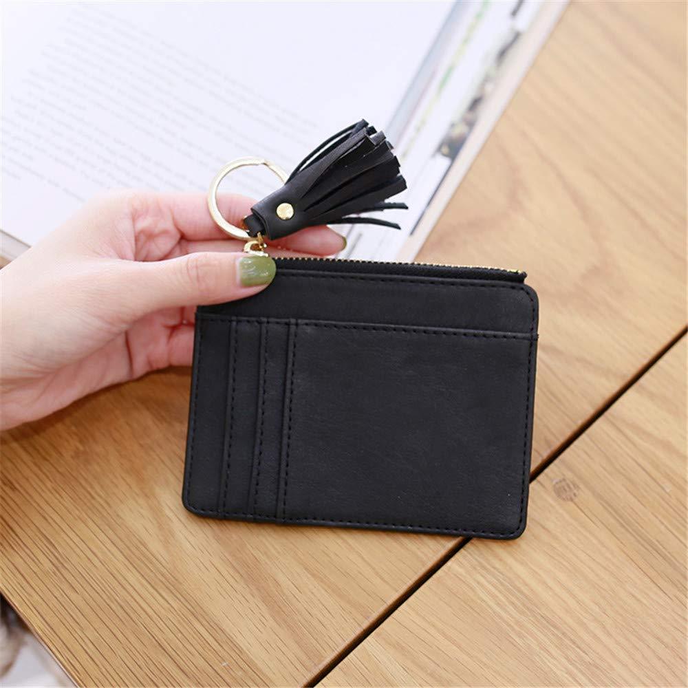 fd48b27eee53 Details about AnnabelZ Card Case Holder Slim Front Pocket Wallet Leather  Coin Change Purse