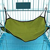 Shopping GD Portable Simple Sleeper Hammock for Pet Small Animal Polar Fleece bed Warm and Comfortable Cat Hammock Bed for Pet Sleeping or Napping in Cage or Out Cage (Green)