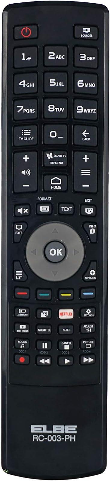 Elbe RC-001-LG - Mando a distancia de reemplazo para televisores LG, color negro: Amazon.es: Electrónica