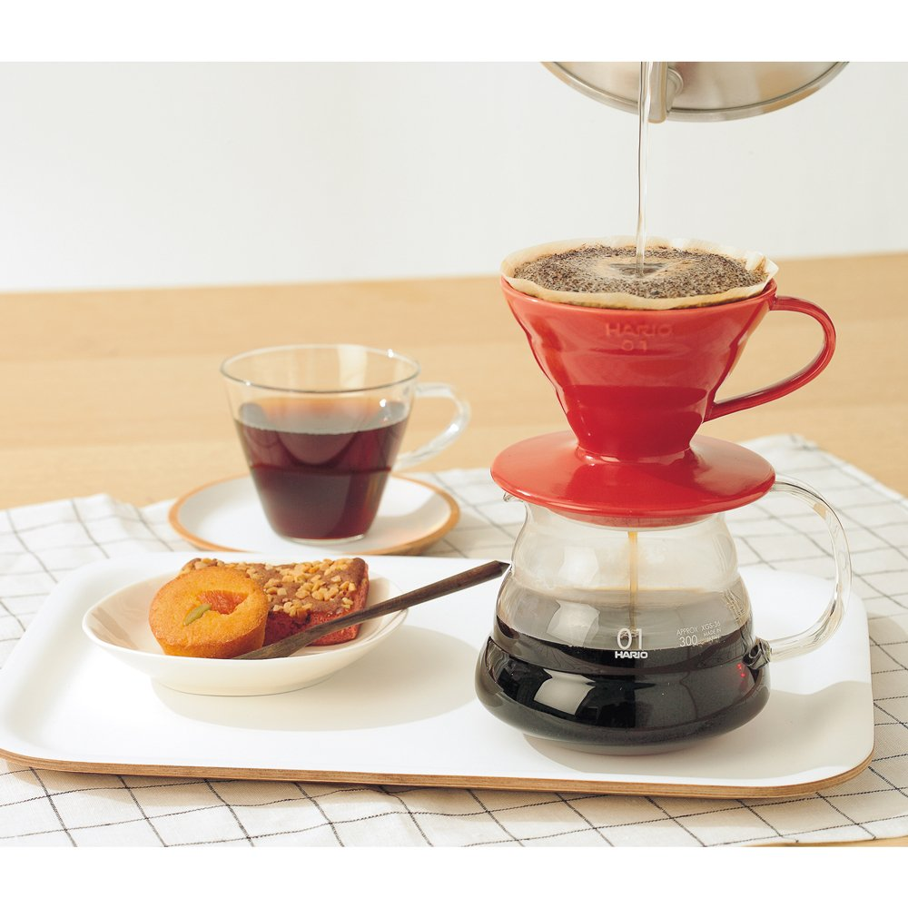 Amazon Hario V60 Ceramic Coffee Dripper Size 01 Red Hario