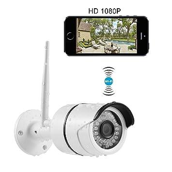 Cámara de Seguridad Inalámbrica INKERSCOOP 1080P Cámara IP WiFi de Exterior Impermeable IP66 Tiene Detección de