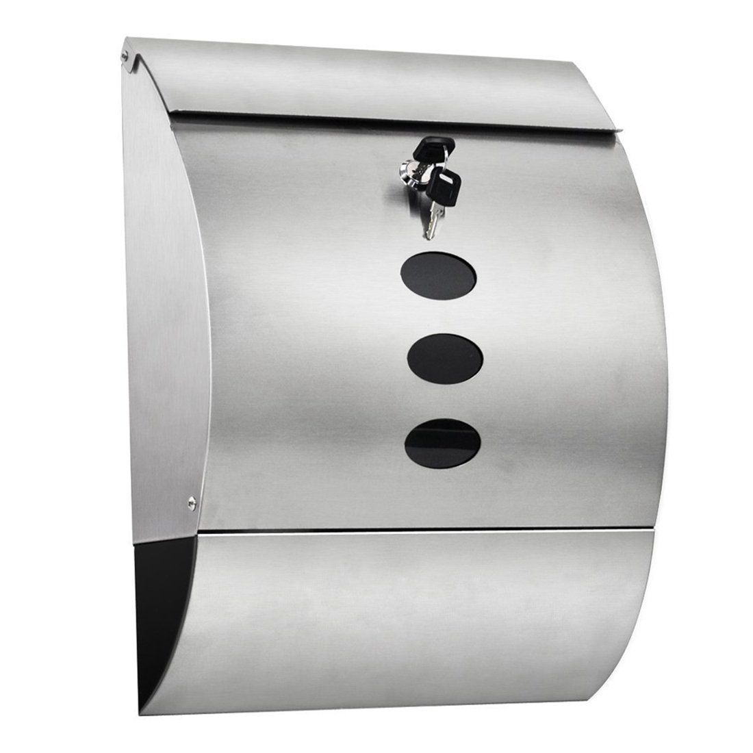 Waterproof Mailbox - TOOGOO(R)Waterproof Stainless Steel Lockable Mailbox & Newspaper Holder Outdoor Mail/Post/Letter Box Silver