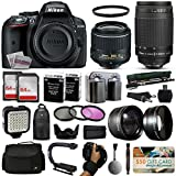 Nikon D5300 DSLR SLR Camera + 18-55mm VR II + Nikon 70-300mm + 128GB Premium Kit