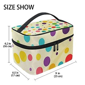98256e8f3d21 Amazon.com   Full Color Dots Hanging Toiletry Bag Large Cosmetic Bag  Portable Travel Organizer Bag for Men Women   Beauty