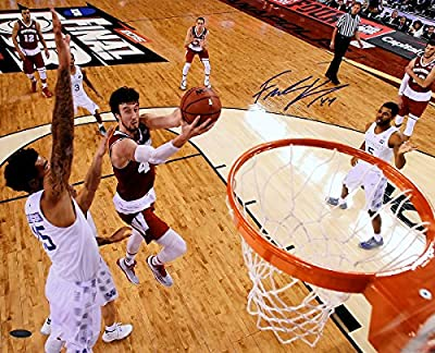 Frank Kaminsky Signed Autographed Wisconsin Badgers 2015 Final Four Lay Up vs Kentucky 16x20 Photo TRISTAR COA