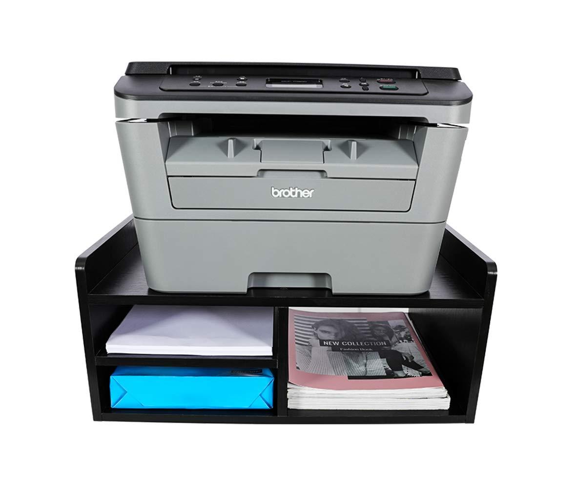 Fournitures de Bureau G/én/érique Support de Bureau en Bois /à 2 Niveaux pour imprimante Noir Organiseur de Papeterie fax