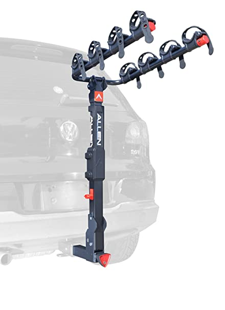 Allen Sports Deluxe Locking Quick Release 4-Bike Carrier for 2 Inch Hitch