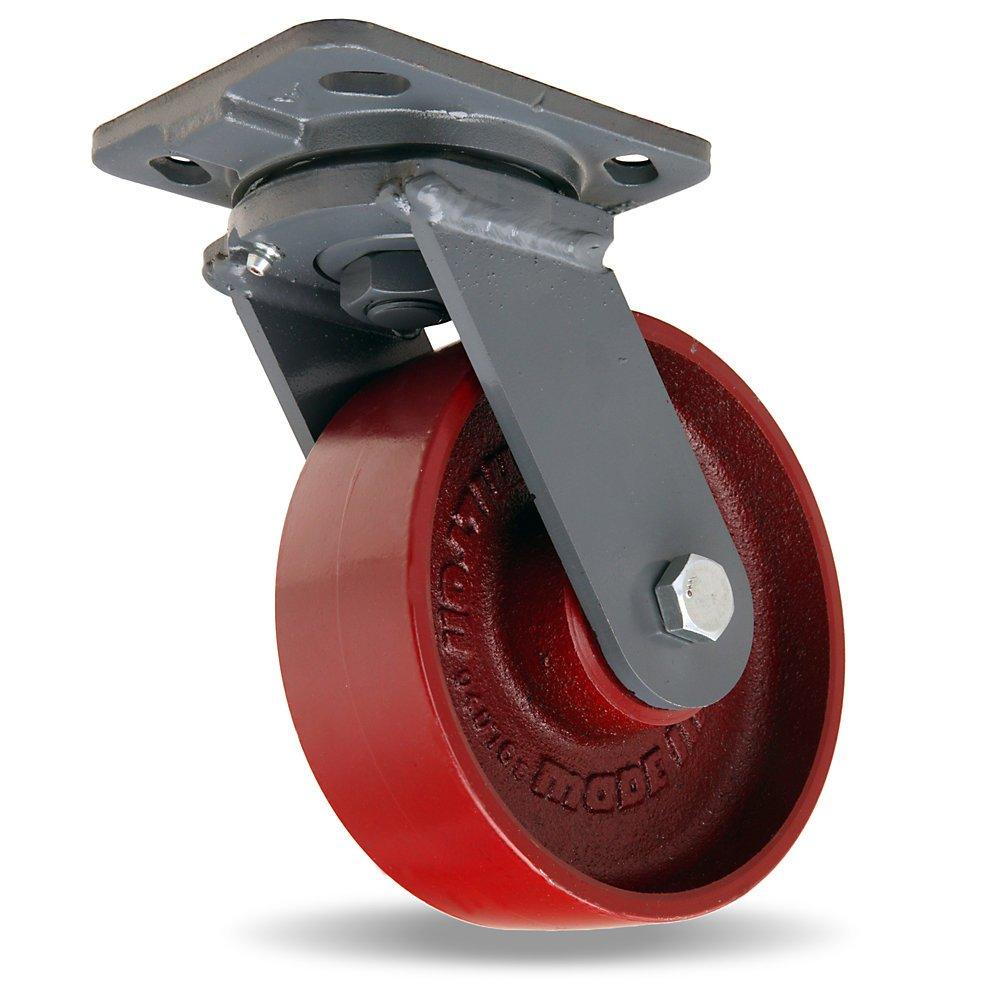 Hamilton Workhorse Caster - 6''Dia.X2''W Metal Wheel - 1400-Lb. Capacity - Swivel - Red by Hamilton (Image #1)