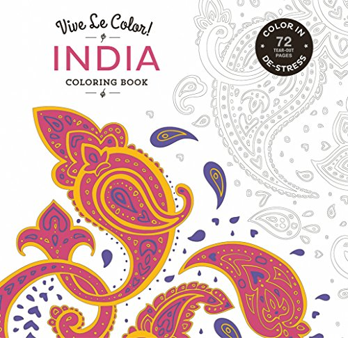 Vive Le Color India Adult Coloring Book In De