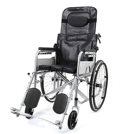 Amazon.com: Hiyougen silla de ruedas plegable portátil ...