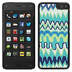Pulsar Snap-on Series Teléfono Carcasa Funda Case Caso para Amazon Fire Phone 4.7 , Niños Kids Art Blue Drawing""